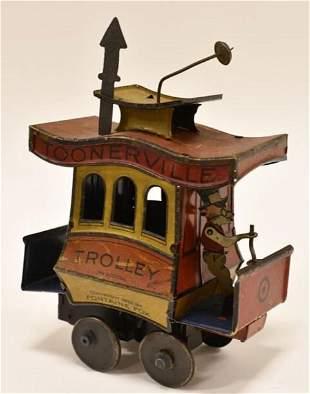 German Nifty Tin Windup Toonerville Trolley
