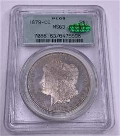 1879-CC Morgan Dollar PCGS MS-63 *Key Date*