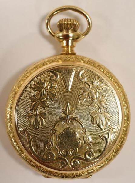 1900 Elgin 14K Gold 0 Size Ladies Pocket Watch
