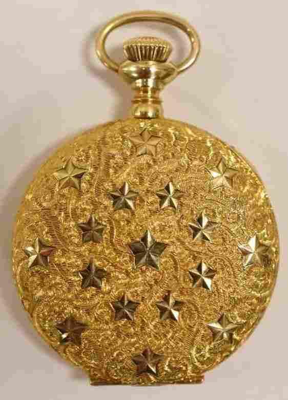 1906 Elgin 14K Gold 0 Size Ladies Pocket Watch