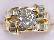 18k Yellow Gold Diamond Unity Ring