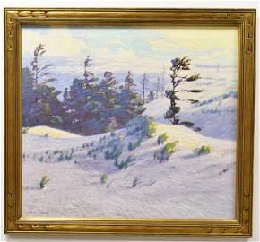 "Frank Dudley ""Windswept Dunes Vista"" Oil On Canvas"