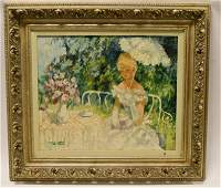 Marguerite Aers Tea Time Oil Painting On Canvas