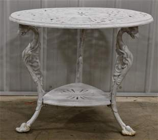 Antique American Cast iron Table With Griffins