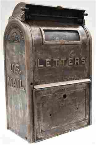 Antique Cast Iron Danville Stove & CO U.S. Mailbox