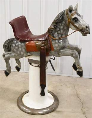 Vintage Figural Carousel Horse Childs Barber Chair