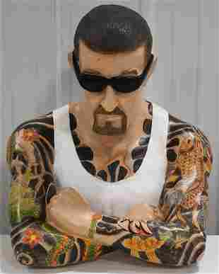Life Size Roy Boy Cooper Tattoo Countertop Figure