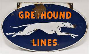 Vintage DSP Greyhound Bus Lines Advertising Sign
