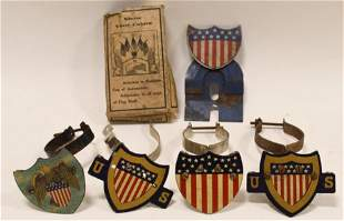 Vintage Automotive Radiator Flag Holder Lot