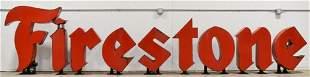 Giant Vintage SSP Firestone Tires Letter Adv Sign