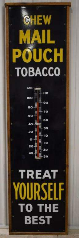 Vintage 6ft SSP Mail Pouch Tobacco Adv Thermometer