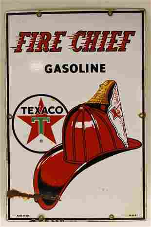 Vintage SSP Texco Fire Chief Gasoline Pump Plate