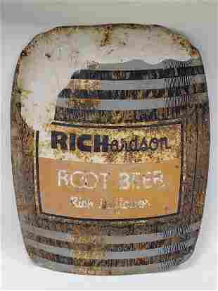 Vintage SST Richardson Root Beer Advertising Sign
