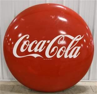 "48"" SSP Coca-Cola Button Advertising Sign"