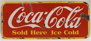 """SSP Coca-Cola """"Sold Here"""" Canadian Adv Sign"""