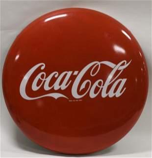 "36"" SSP Coca-Cola Button Advertising Sign"