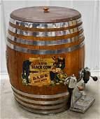 Vintage Dads Root Beer Keg Barrel Dispenser