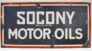 Early DSP SOCONY Motor Oils Advertising Sign