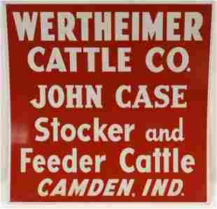 SST Wertheimer Cattle Co. Camden Ind Smaltz Sign