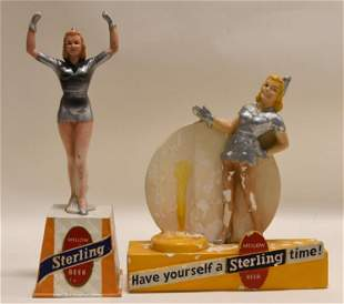 Vintage Sterling Beer Advertising Display Lot