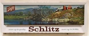 1958 Schlitz Beer Lighted Advertising Sign