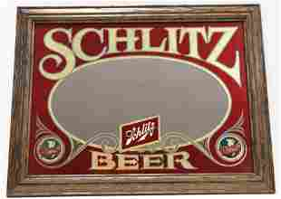Vintage NOS Schlitz Beer Advertising Bar Mirror