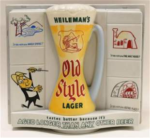 Vintage Heileman's Old Style Lager Lighted Sign