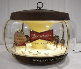Vintage Budweiser Clydesdale Carousel Motion Sign