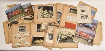 1930s-40s Midget Racing Photograph Memorabilia Lot