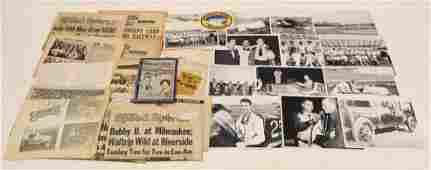 Vintage Automotive Racing Ephemera / Photo Lot