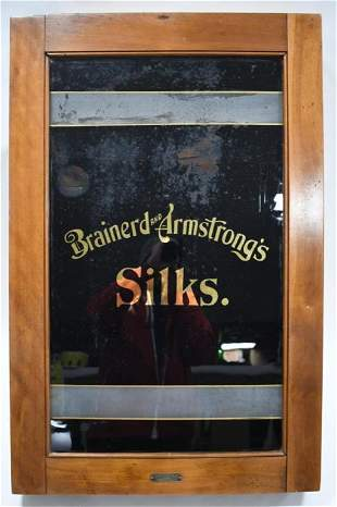 Early Brainerd& Armstrong Silks Mercantile Cabinet