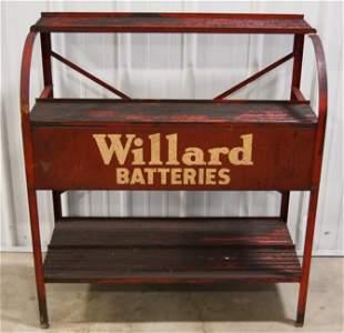 Vintage Willard Batteries Metal Adv Display Rack