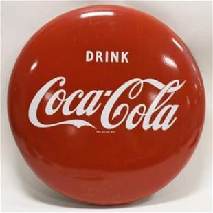 """24"""" SSP Coca-Cola Button Convex Adv Sign"""