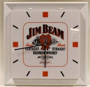 Vintage Jim Beam Bourbon Whiskey Adv Clock