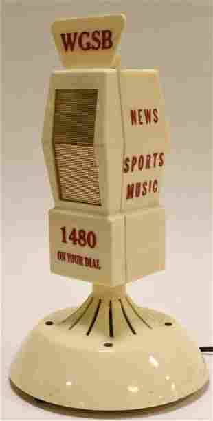 Vintage WGSB Promo Figural Microphone Tube Radio