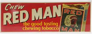 Early SST Red Man Chewing Tobacco Advertising Sign