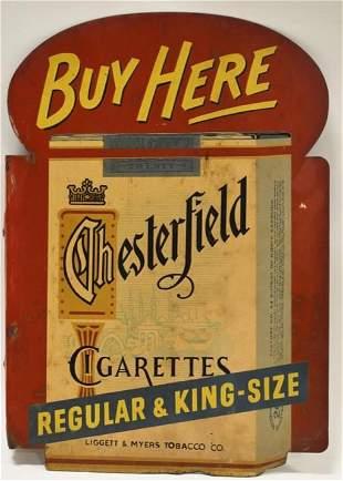 Vintage DST Chesterfield Cigarettes Flange Sign