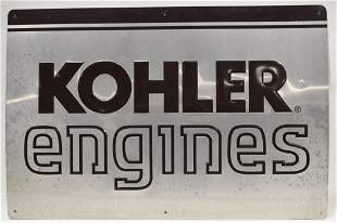SST Kohler Engines Embossed Advertising Sign