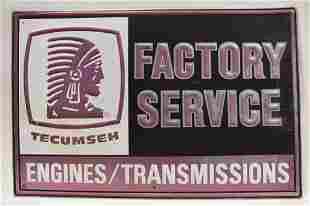 Large SST Tecumseh Engines Embossed Adv Sign