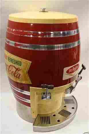 Vintage Multiplex Coca-Cola Dispenser Barrel