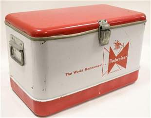 Vintage Budweiser Promotional Advertising Cooler
