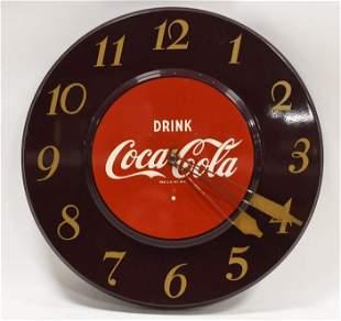 Vintage Coca-Cola Metal Advertising Clock