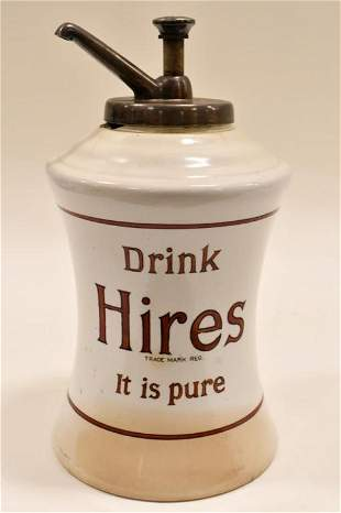 Early Hires Root Beer Ceramic Syrup Dispenser