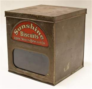 Vintage Sunshine Biscuits Store Display Tin