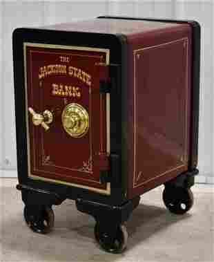 Antique Restored Cast Iron Yale Safe w/ Combo
