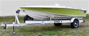 1974 Donzi Sweet 16 Classic Race Boat with Trailer