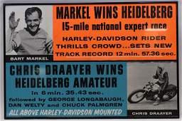 Vintage HarleyDavidson Dealership Adv Poster