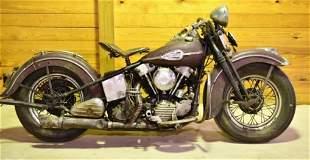 1946 Harley-Davidson Knucklehead F Motorcycle