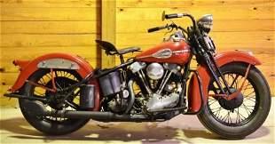 1937 Harley-Davidson EL Knucklehead Motorcycle