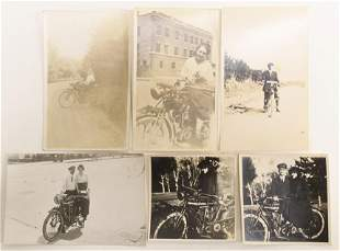 Antique Indian Motorcycle Photos / Postcards